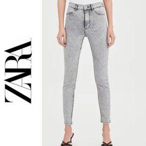 Zara Super Elastic High Rise Jeans Ankle Length